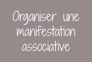 Organiser une manifestation
