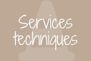 Les services techniques
