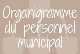 Organigramme du personnel municipal